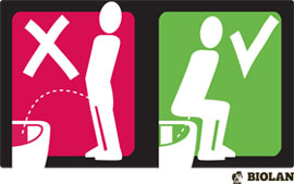 Sit to pee